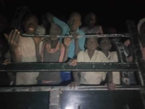 Some of the abducted Kankara students while being returned to Katsina