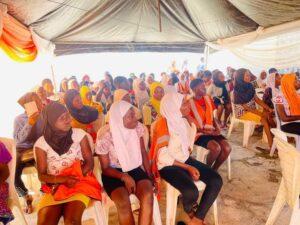 Girls at the capacity building seminar
