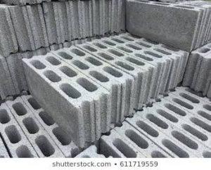 Stolen cement blocks