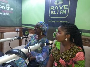 Guests discussing FGM on a radio station in Osun State