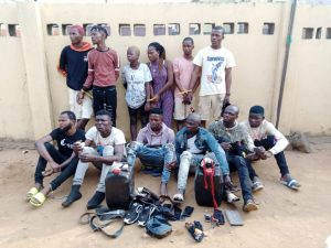 The arrested suspects