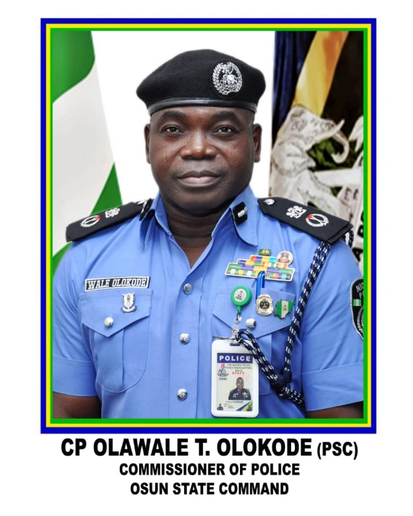 The new Commissioner of police in Osun State