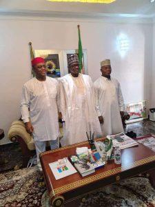 Yahaha Bello, Fani-Kayode and Buni during the meeting
