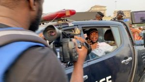 Some of the brutalised and arrested Protesters in the Police vehicle