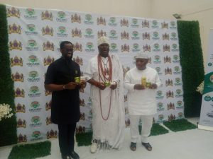 Ooni of Ife and others during the launch of the drug
