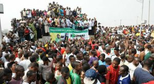 File photo: Nigerians during a Protest