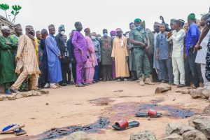 The deputy Governor visited the village where six members of a family were killed