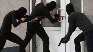 File photo of Armed robbers robbing a bank