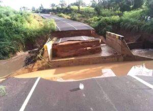 Mbu damaged road